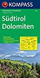 Kompass Karten, Südtirol, Dolomiten: Panorama + Autokarte und Ortsverzeichnis. 1:150000 (KOMPASS-Panoramakarten, Band 356)