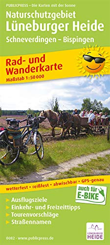 Naturschutzgebiet Lüneburger Heide, Schneverdingen - Bispingen: Rad- und Wanderkarte mit Ausflugszielen, Einkehr- & Freizeittipps, wetterfest, ... 1:50000 (Rad- und Wanderkarte / RuWK)