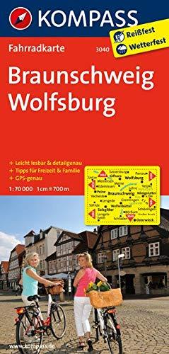 KOMPASS Fahrradkarte Braunschweig - Wolfsburg: Fahrradkarte. GPS-genau. 1:70000: Fietskaart 1:70 000 (KOMPASS-Fahrradkarten Deutschland, Band 3040)