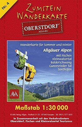 Zumstein Wanderkarte Oberstdorf: Maßstab 1:30 000