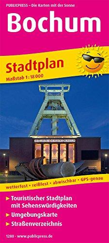 Bochum: Touristischer Stadtplan mit Sehenswürdigkeiten und Straßenverzeichnis. 1:18000 (Stadtplan / SP)