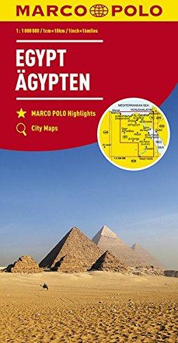 MARCO POLO Länderkarte Ägypten 1:1 100 000: Wegenkaart 1:1 000 000 (MARCO POLO Kontinental /Länderkarten)