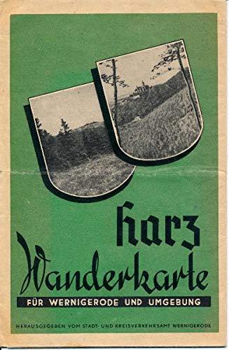 Harz Wanderkarte für Wernigerode und Umgebung