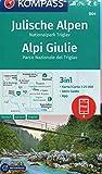 KOMPASS Wanderkarte Julische Alpen, Nationalpark Triglav, Alpi Giulie: 3in1 Wanderkarte 1:25000 mit Aktiv Guide inklusive Karte zur offline Verwendung ... Langlaufen. (KOMPASS-Wanderkarten, Band 64)