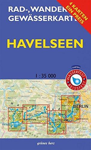 Rad-, Wander- und Gewässerkarten-Set: Havelseen: Mit den Karten: 'Havelseen 1: Brandenburg/Havel', 'Havelseen 2: Beetzsee bis Ketzin', 'Havelseen 3: ... und Gewässerkarten Berlin/Brandenburg)