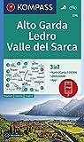 KOMPASS Wanderkarte Alto Garda, Ledro, Valle del Sarca: 3in1 Wanderkarte 1:25000 mit Aktiv Guide inklusive Karte zur offline Verwendung in der ... (KOMPASS-Wanderkarten, Band 96)