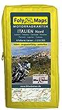 FolyMaps Motorradkarten Italien Nord: 1:250 000 Südtirol, Trentino, Gardasee, Piemont, Ligurien, Toskana, Venetien, Friaul
