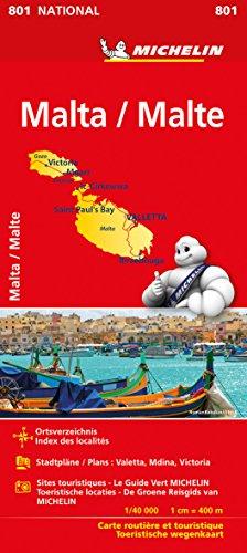 Michelin Malta: Straßen- und Tourismuskarte 1: 50.000 (MICHELIN Nationalkarten)