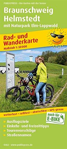 Braunschweig - Helmstedt mit Naturpark Elm-Lappwald: Rad- und Wanderkarte mit Ausflugszielen, Einkehr- & Freizeittipps, wetterfest, reissfest, ... 1:50000 (Rad- und Wanderkarte / RuWK)