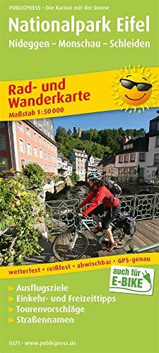 Nationalpark Eifel, Nideggen - Monschau - Schleiden: Rad- und Wanderkarte mit Ausflugszielen, Einkehr- & Freizeittipps, Straßennamen, wetterfest, ... 1:50000 (Rad- und Wanderkarte / RuWK)