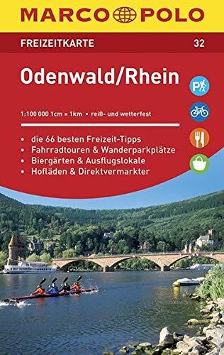 MARCO POLO Freizeitkarte Odenwald, Rhein: Toeristische kaart 1:100 000