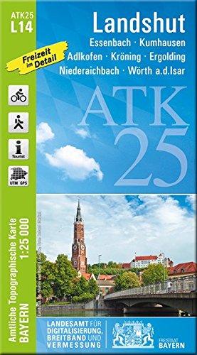 ATK25-L14 Landshut (Amtliche Topographische Karte 1:25000): Essenbach, Kumhausen, Adlkofen, Kröning, Ergolding, Niederaichbach, Wörth a.d.Isar, ... Amtliche Topographische Karte 1:25000 Bayern)