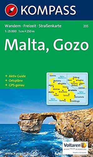 Kompass Karten, Malta: Wandelkaart 1:25 000 (KOMPASS-Wanderkarten, Band 235)