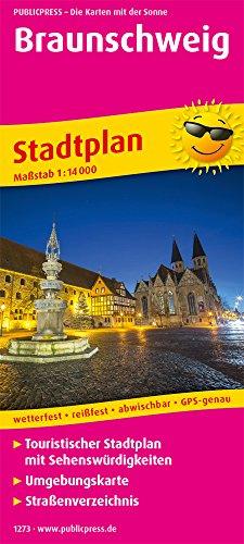 Braunschweig: Touristischer Stadtplan mit Sehenswürdigkeiten und Straßenverzeichnis. 1:16000 (Stadtplan / SP)