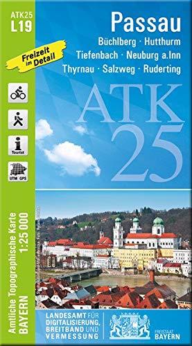 ATK25-L19 Passau (Amtliche Topographische Karte 1:25000): Büchlberg, Hutthurm, Tiefenbach, Neuburg a.Inn, Thyrnau, Salzweg, Ruderting (ATK25 Amtliche Topographische Karte 1:25000 Bayern)