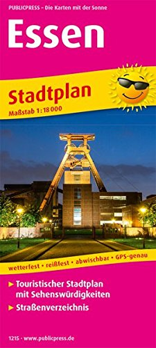 Essen: Touristischer Stadtplan mit Sehenswürdigkeiten und Straßenverzeichnis. 1:18000 (Stadtplan / SP)