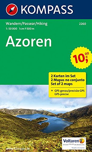 Azoren: Wanderkarten-Set. GPS-genau. 1:50000 (KOMPASS-Wanderkarten, Band 2260)
