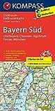 Bayern Süd, Oberbayern, Chiemsee, Ingolstadt, Passau, München: Großraum-Radtourenkarte 1:125000, GPX-Daten zum Download (KOMPASS-Großraum-Radtourenkarte, Band 3712)
