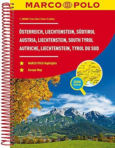 MARCO POLO Reiseatlas Österreich, Liechtenstein, Südtirol 1:200 000 (MARCO POLO Reiseatlanten)