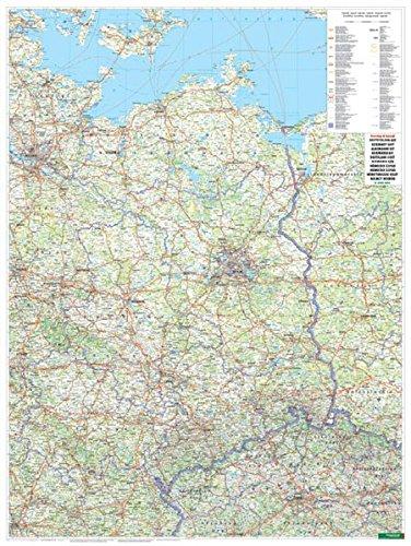 Freytag Berndt Wandkarten, Deutschland Ost, Poster, Metallbestäbt in Rolle - Maßstab 1:500.000 (freytag & berndt Poster + Markiertafeln)