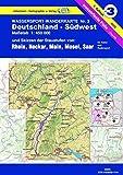 Wassersport-Wanderkarte / Kanu-und Rudersportgewässer: Jübermann Wassersport-Wanderkarten, Bl.3, Deutschland-Südwest