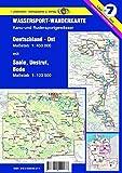 Wassersport-Wanderkarte / Deutschland Ost für Kanu- und Rudersport